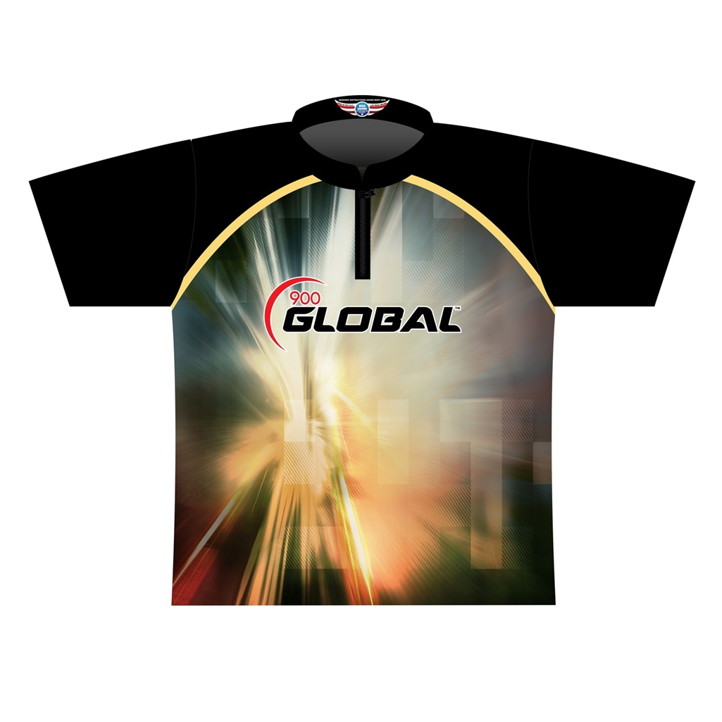 900 Global Dye Sublimated Jersey Blackgoldwhite