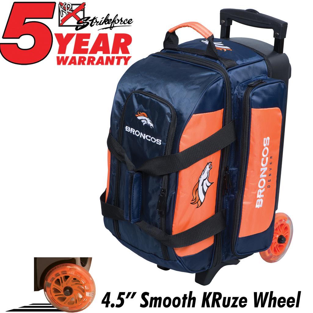 Denver Broncos Double Roller Bowling Bag