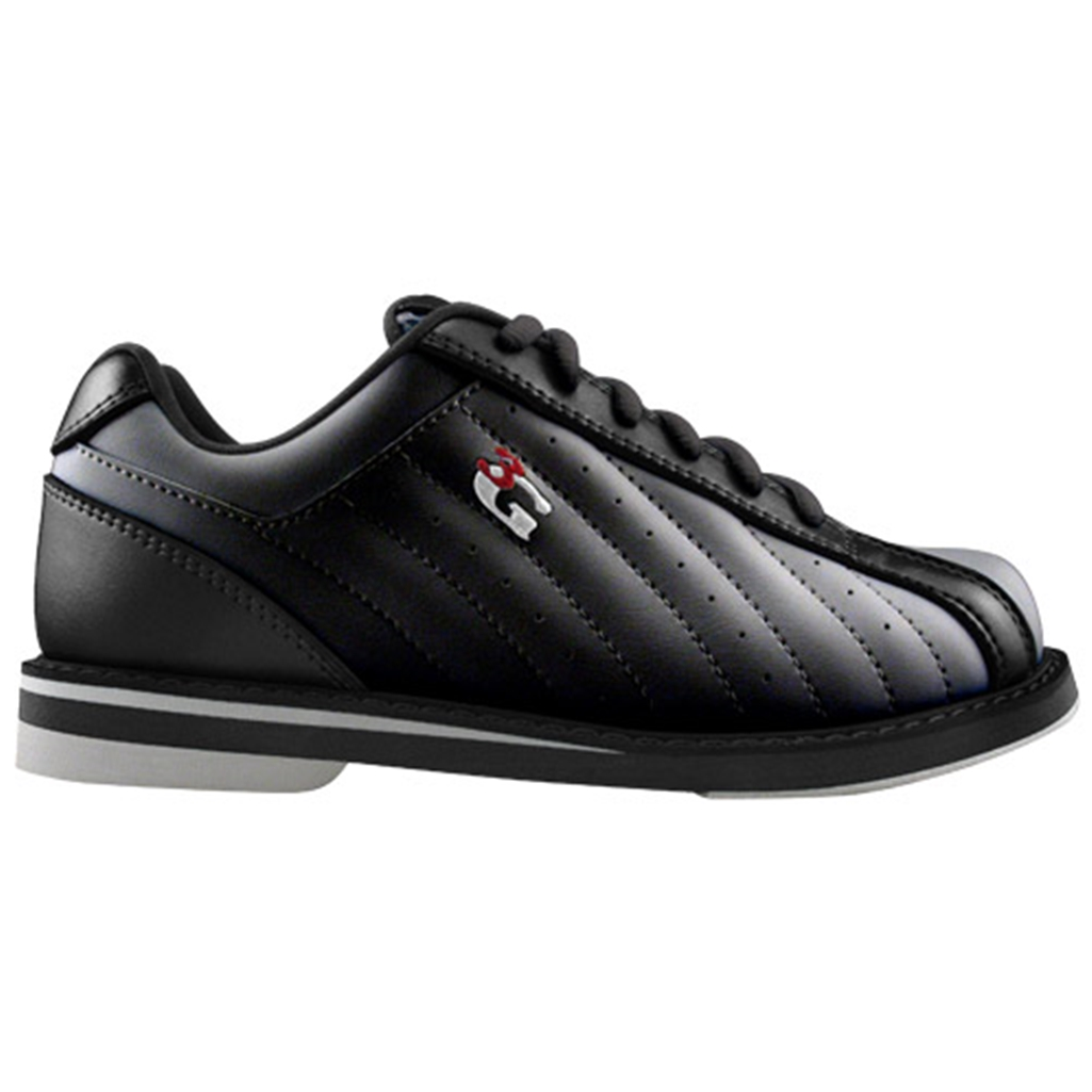3G Kicks Unisex Black WIDE Bowling Shoes