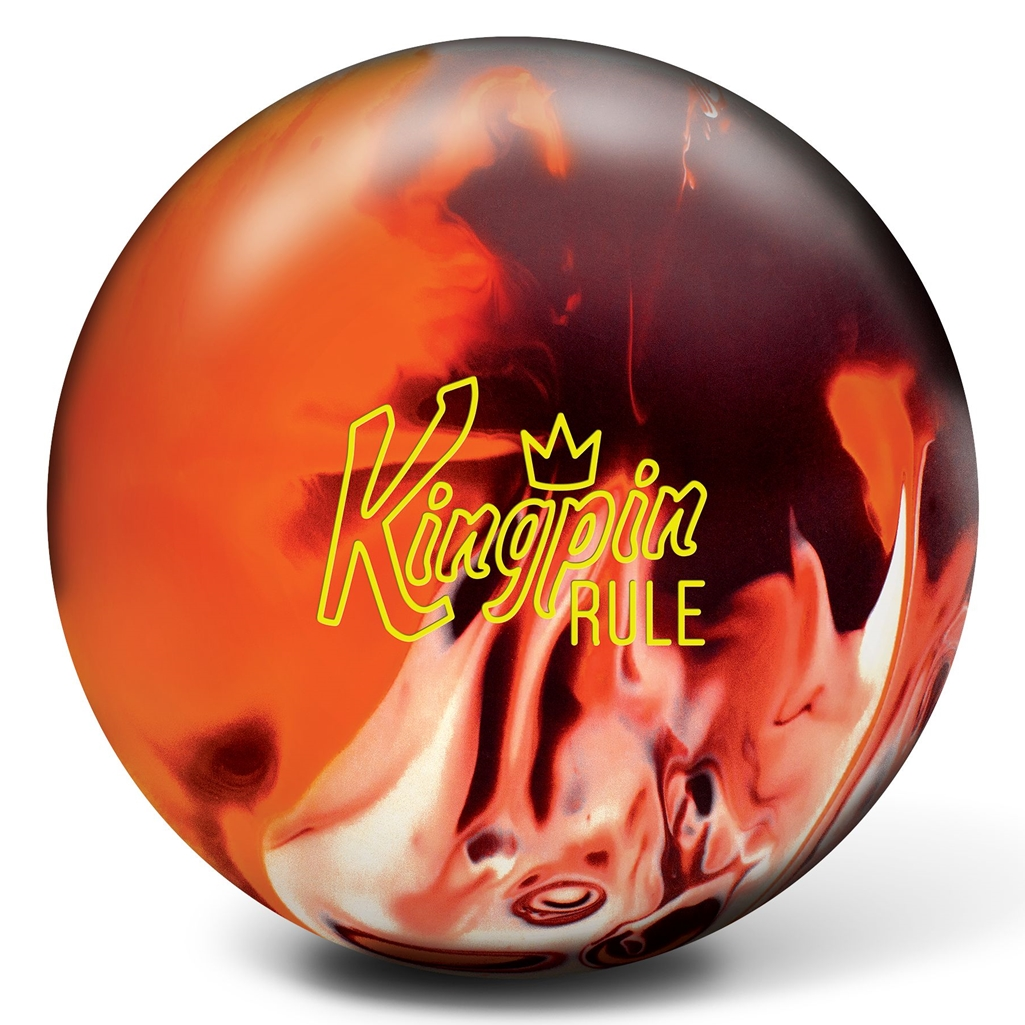 Brunswick KingPin Rule Bowling Ball- Maroon/Orange/White
