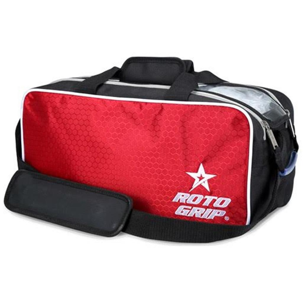 Roto Grip 2 Ball Tote Bowling Bag Black Red