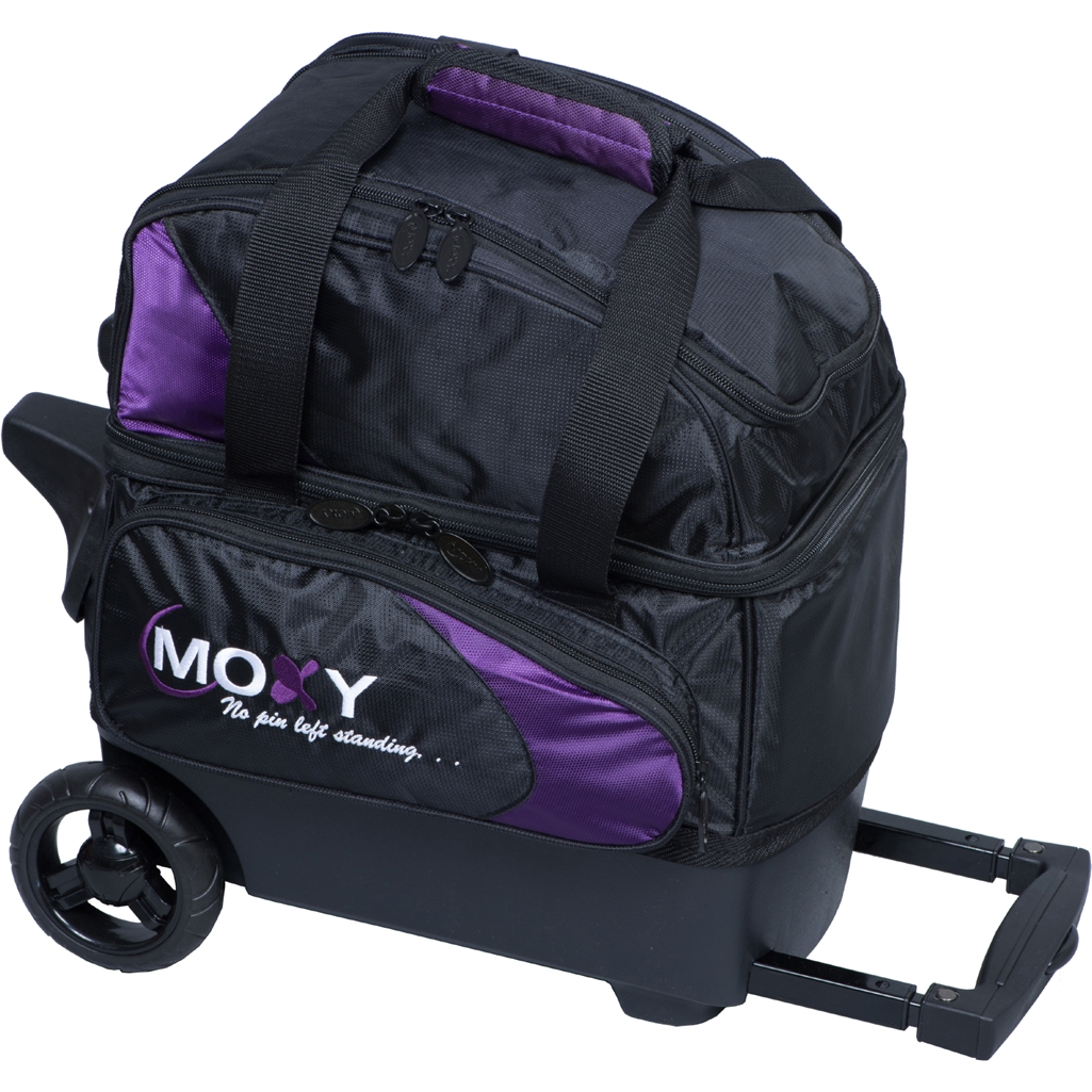 Moxy Duckpin Deluxe Roller Bowling Bag- Purple/Black