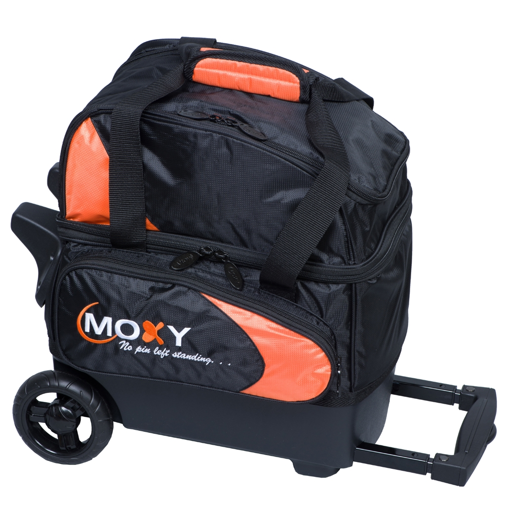 Moxy Candlepin Deluxe Roller Bowling Bag- Orange/Black