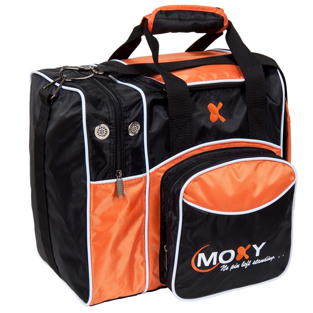 Moxy Candlepin Deluxe Tote Bowling Bag- Orange/Black