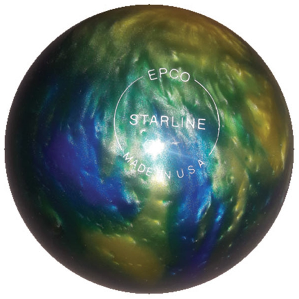 "Candlepin Starline Bowling Ball 4.5""- Topaz Blue Pearl"