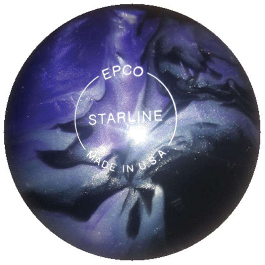 "Candlepin Starline Bowling Ball 4.5""- Lavender/Silver/Black Pearl"
