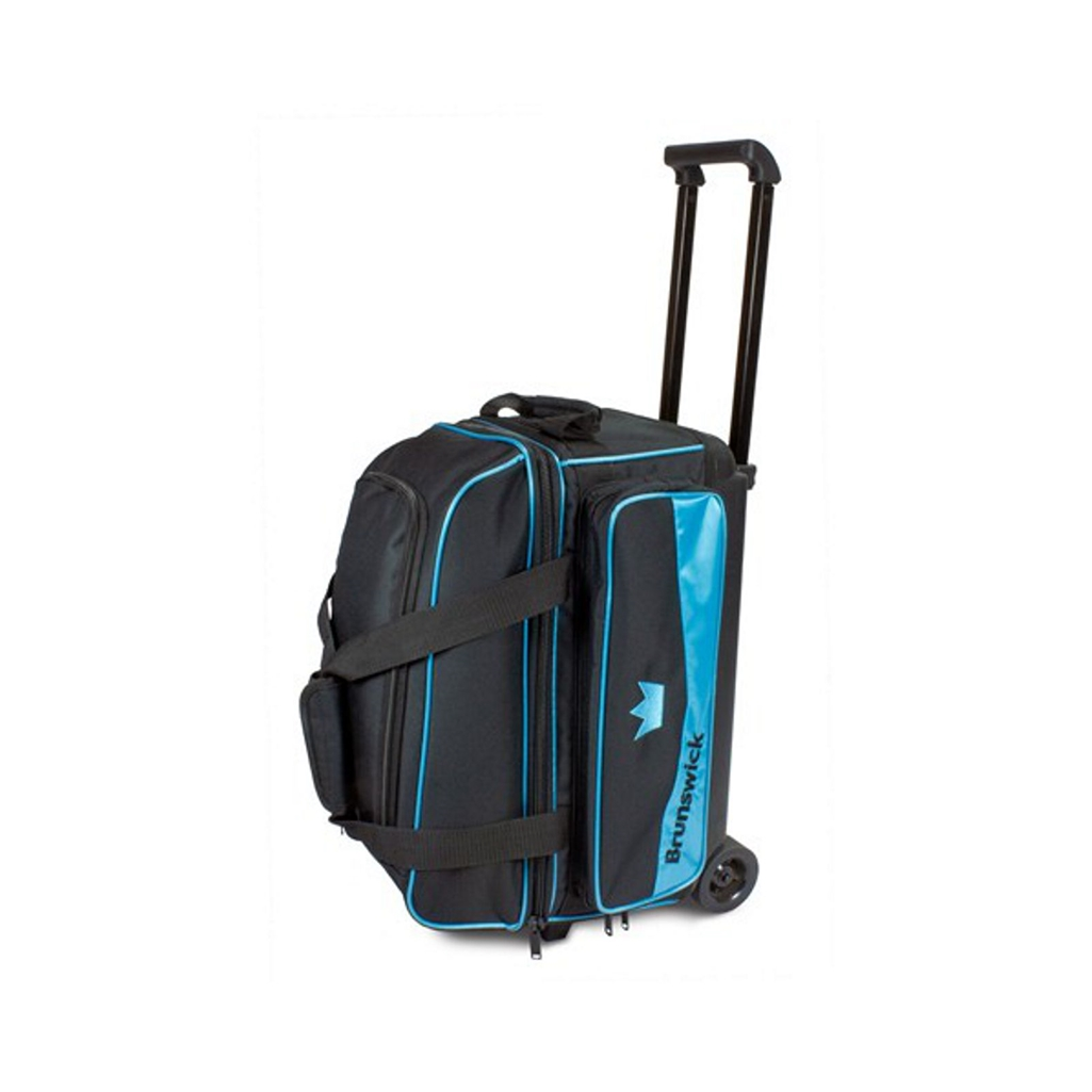 Brunswick Zone Double Roller Bowling Bag Sky Blue