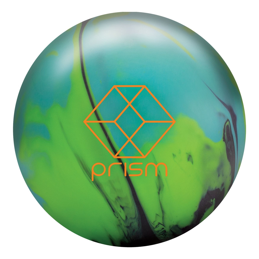 Brunswick Prism Solid Bowling Ball- Green/Aqua/Black