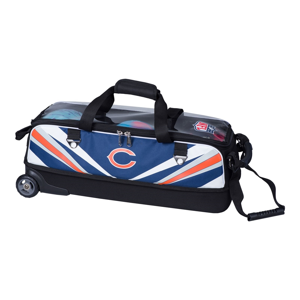 Chicago Bears Slim Triple Tote Bowling Bag