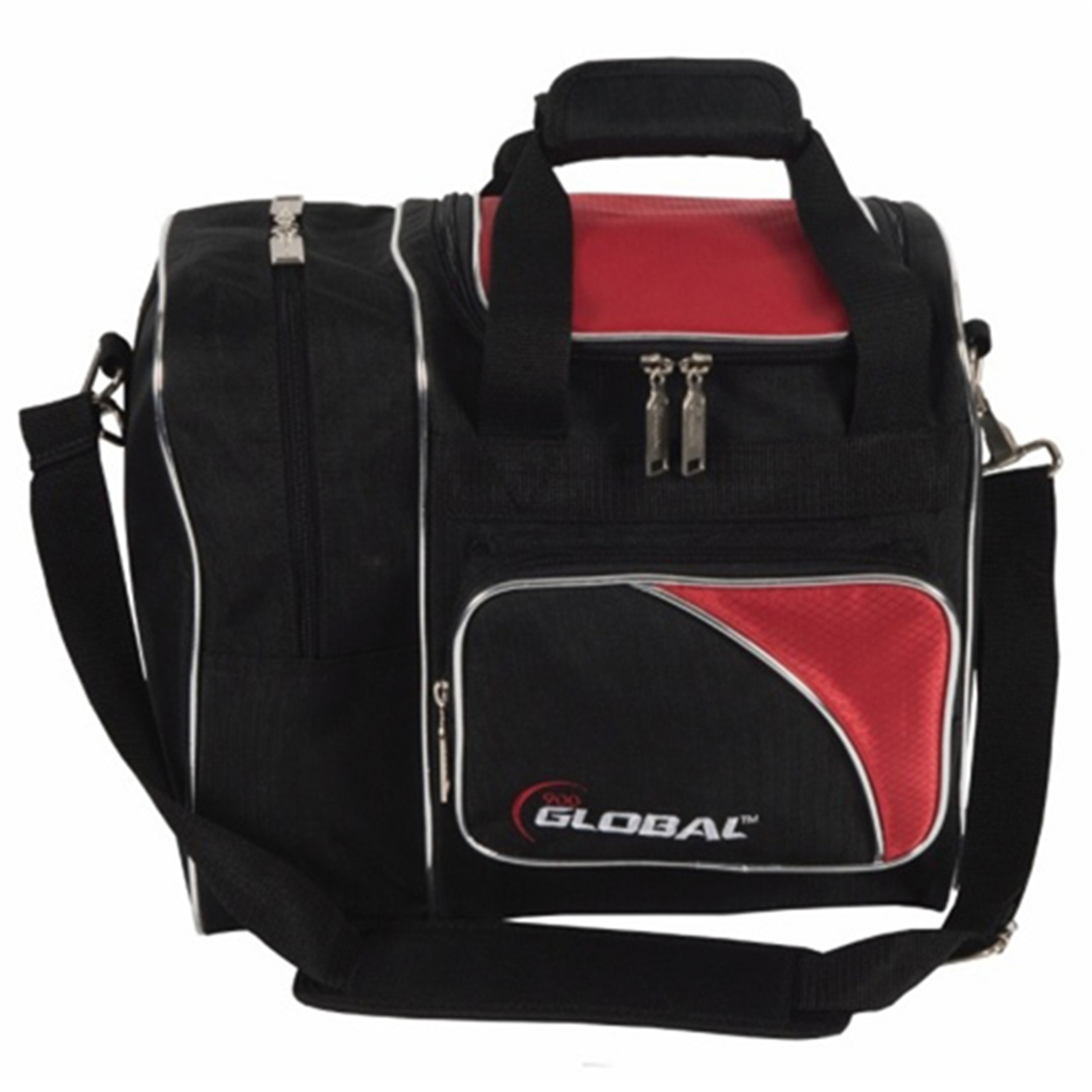 900 Global Deluxe Single Bowling Bag- Red/Black