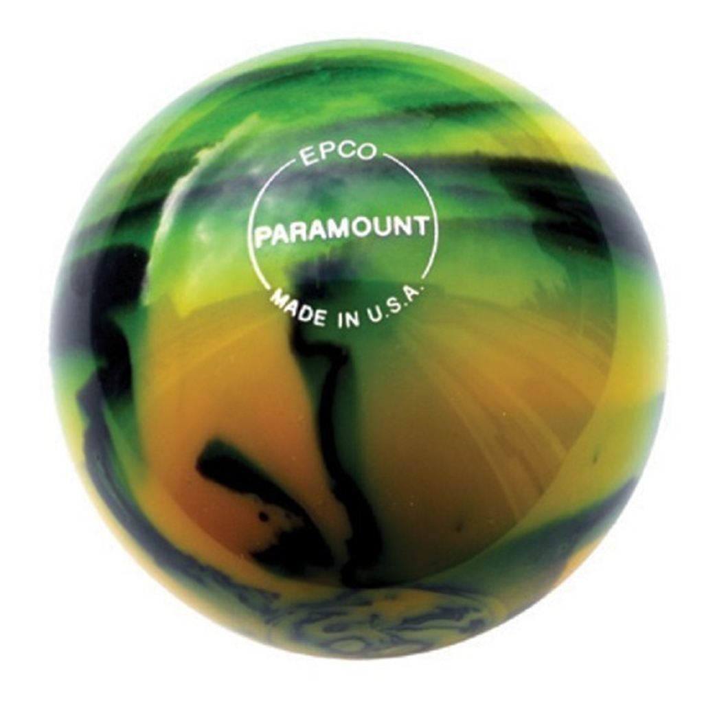 EPCO Candlepin Bowling Ball- Marbleized - Black, Red