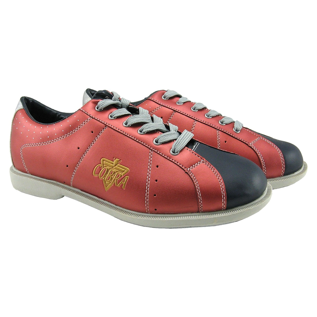 Men's TCR2L Sport Comfort Cobra Rental Bowling Shoes- Laces 8 US M Red/Black
