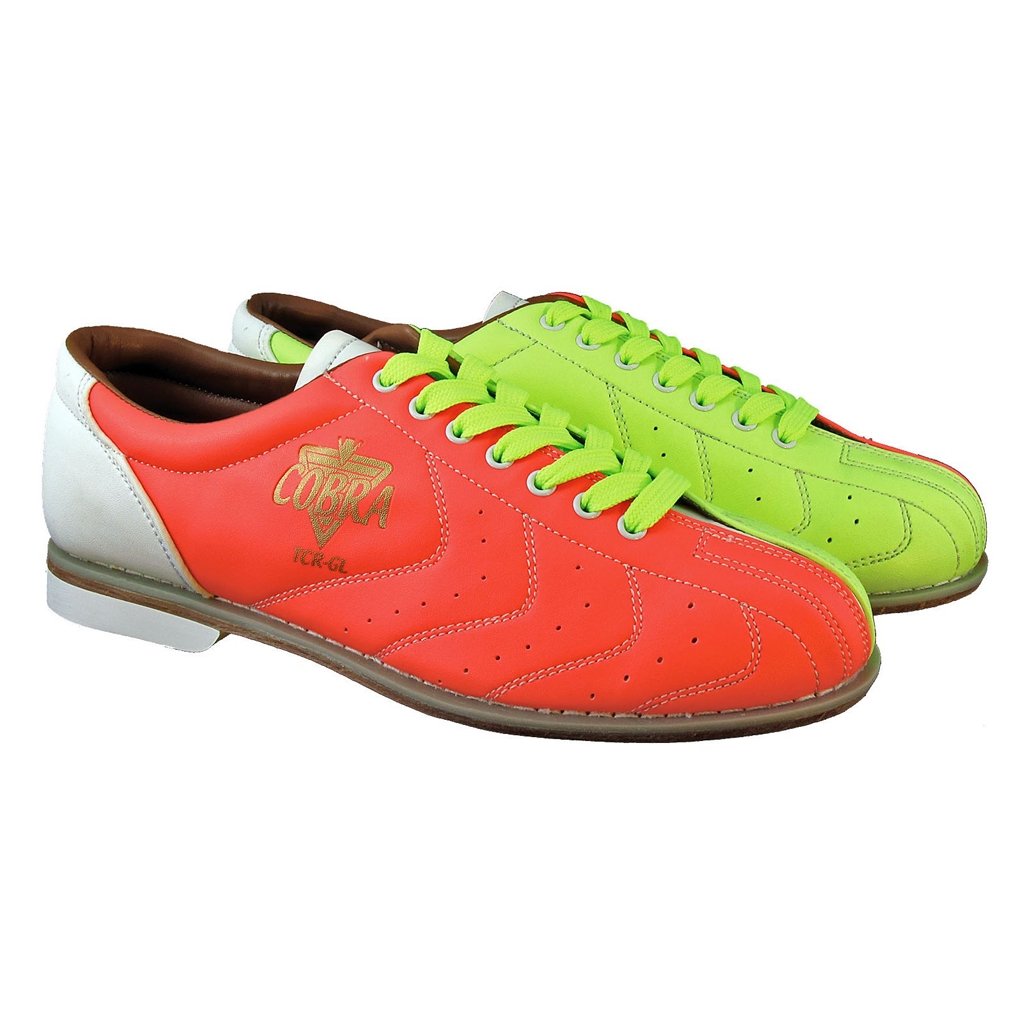 Bowlerstore Ladies Glow TCR-GL Cobra Rental Bowling Shoes- Laces