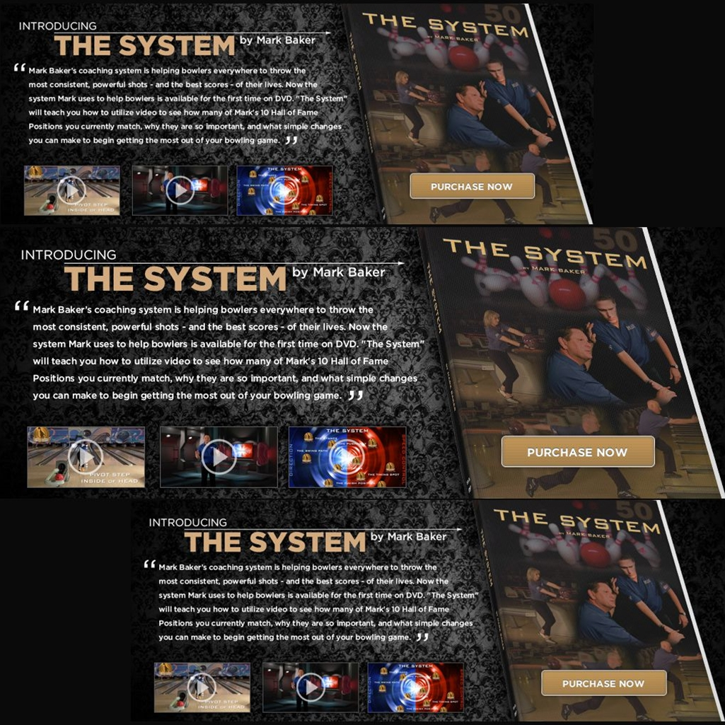 The System Bowling Instructional DVD by Mark Baker